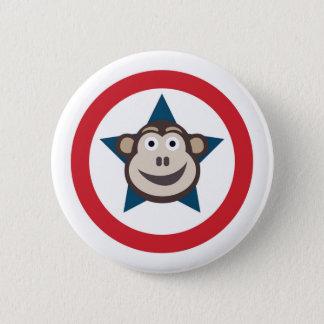 Bóton Redondo 5.08cm Gráfico super do macaco