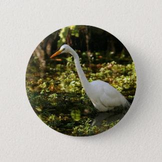 Bóton Redondo 5.08cm Grande Egret que vadeia nos marismas