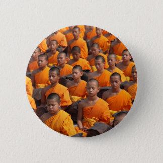Bóton Redondo 5.08cm Grande grupo de monges Meditating