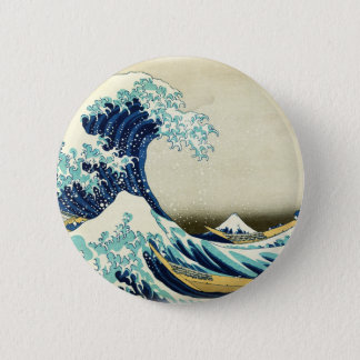 Bóton Redondo 5.08cm Grande onda fora de Kanagawa