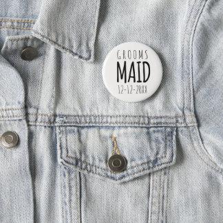 Bóton Redondo 5.08cm Groomsmaid moderno que Wedding o botão do Pin
