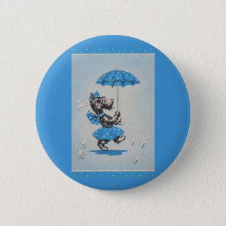 Bóton Redondo 5.08cm Guarda-chuva do carregando da senhora do cão do