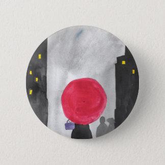 Bóton Redondo 5.08cm Guarda-chuva vermelho