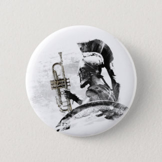 Bóton Redondo 5.08cm Guerreiro da trombeta
