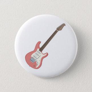 Bóton Redondo 5.08cm guitarra elétrica cor-de-rosa