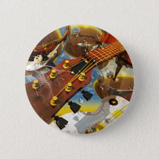 Bóton Redondo 5.08cm Guitarra pela arte de Lenny