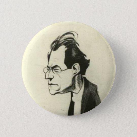 Bóton Redondo 5.08cm Gustav Mahler button