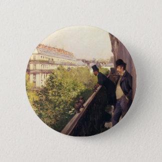 Bóton Redondo 5.08cm Gustave Caillebotte: Um balcão, bulevar Haussmann