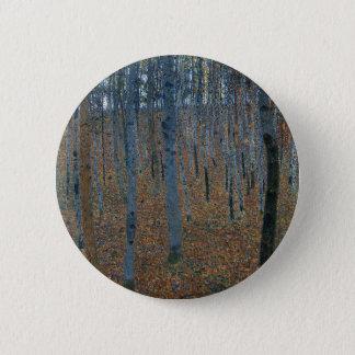 Bóton Redondo 5.08cm Gustavo Klimt - bosque da faia. Animais selvagens