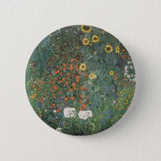 Bóton Redondo 5.08cm Gustavo Klimt - flores dos girassóis do jardim do