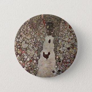 Bóton Redondo 5.08cm Gustavo Klimt - jardim com galos