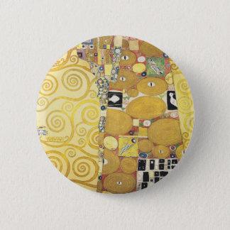 Bóton Redondo 5.08cm Gustavo Klimt - o abraço - trabalhos de arte