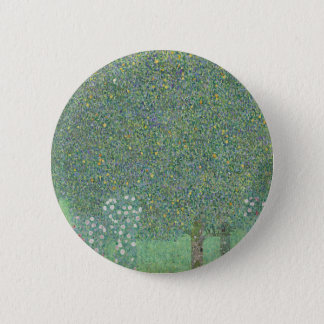 Bóton Redondo 5.08cm Gustavo Klimt - Rosebushes sob os trabalhos de