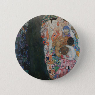 Bóton Redondo 5.08cm Gustavo Klimt - trabalho de arte da morte e da
