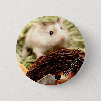 Bóton Redondo 5.08cm Hammyville - hamster bonito
