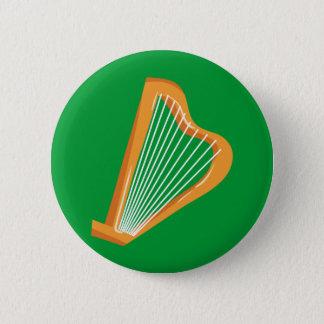 Bóton Redondo 5.08cm Harpa do irlandês de Irische Harfe
