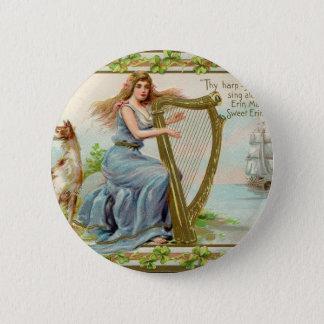 Bóton Redondo 5.08cm Harpa & senhora originais do dia de patrick de