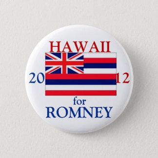 Bóton Redondo 5.08cm Havaí para Romney 2012
