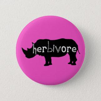Bóton Redondo 5.08cm Herbívoro - rinoceronte - rosa