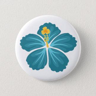 Bóton Redondo 5.08cm Hibiscus azul