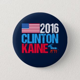 Bóton Redondo 5.08cm Hillary Clinton 2016 Tim Kaine