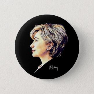 """Bóton Redondo 5.08cm Hillary Clinton """"olhos"""" ao botão futuro"""