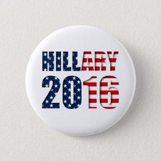 Bóton Redondo 5.08cm Hillary Clinton para o presidente 2016 botão