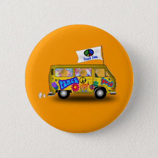 Bóton Redondo 5.08cm Hippie mágico Van