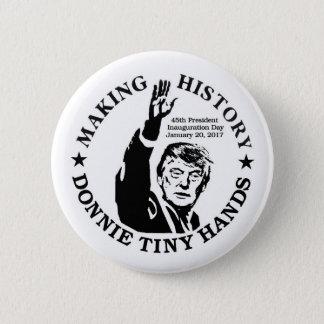 Bóton Redondo 5.08cm História do fazer de Donald Trump