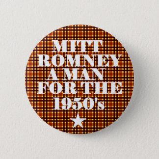 Bóton Redondo 5.08cm Homem de Mitt Romney para os anos 50