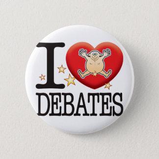 Bóton Redondo 5.08cm Homem do amor dos debates