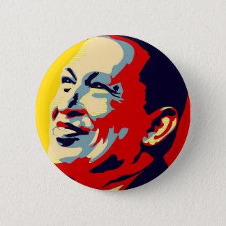 Bóton Redondo 5.08cm Hugo Chavez - estilo da esperança de Obama