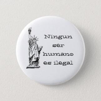 Bóton Redondo 5.08cm Humano es do ser de Ningun ilegal