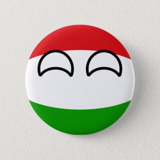 Bóton Redondo 5.08cm Hungria Geeky de tensão engraçada Countryball