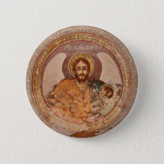 Bóton Redondo 5.08cm ícone baptista da igreja ortodoxa da religião de
