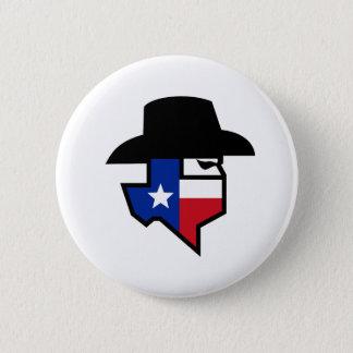 Bóton Redondo 5.08cm Ícone da bandeira de Texas do bandido