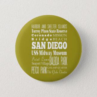 Bóton Redondo 5.08cm Ideia do presente de San Diego original,