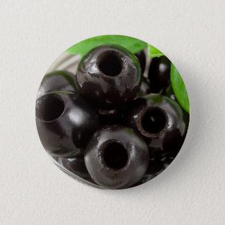 Bóton Redondo 5.08cm Ideia macro detalhada das azeitonas pretas