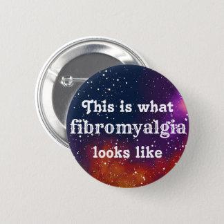 Bóton Redondo 5.08cm Identidade customizável da galáxia da fibromialgia