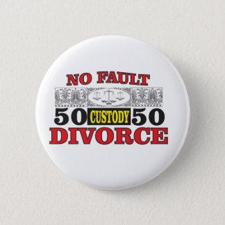 Bóton Redondo 5.08cm igualdade 50 do divórcio 50 da no-falha