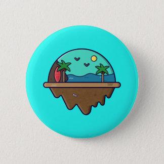 Bóton Redondo 5.08cm Ilha Serie - botão da ilha da praia