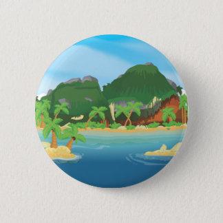 Bóton Redondo 5.08cm Ilha tropical do tesouro