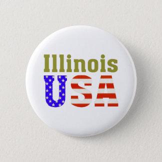 Bóton Redondo 5.08cm Illinois EUA!