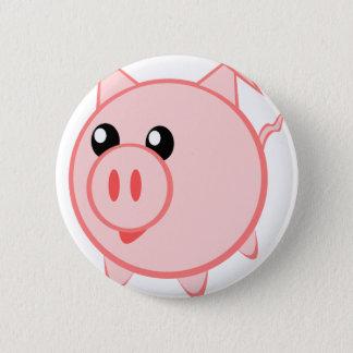 Bóton Redondo 5.08cm Ilustração de um porco dos desenhos animados