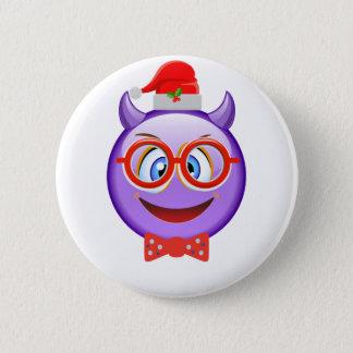 Bóton Redondo 5.08cm Impertinente e Geeky no Natal Emoji