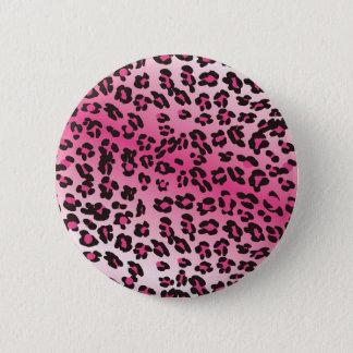 Bóton Redondo 5.08cm Impressão cor-de-rosa da chita