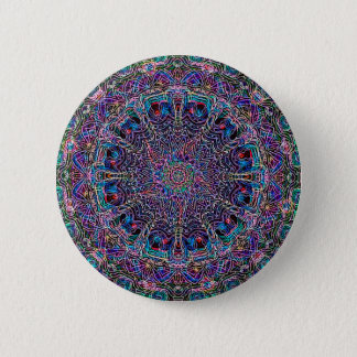 Bóton Redondo 5.08cm Impressão de Psychadelic da arte do Hippie