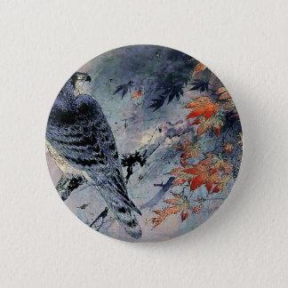 Bóton Redondo 5.08cm Impressão do japonês do pássaro do falcão