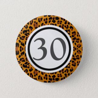 Bóton Redondo 5.08cm Impressão do leopardo