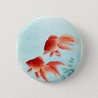 Bóton Redondo 5.08cm Impressão japonês dos peixes do vintage
